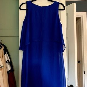 Royal blue dress with butterfly back